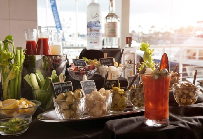 The Ritz Prime Seafood Bloody Mary Bar