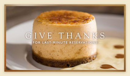 Thanksgiving Dinner at the Capital Grille @ Capital Grille (The) - Costa Mesa