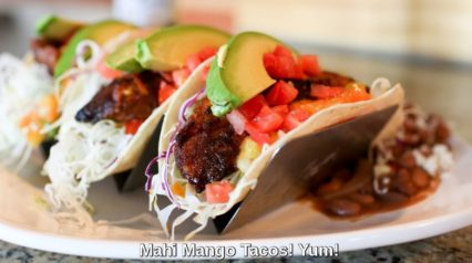 Hurricanes Bar And Grill Late Night Bites Mahi Mango Tacos