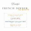 Ponsaty's French Dinner Series
