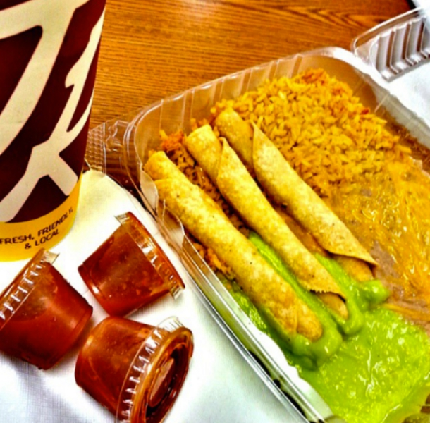 Miguel's Jr Taquito Plate
