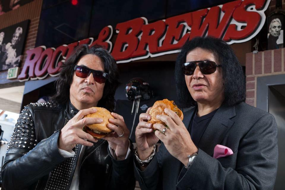 Restaurateur and Rockstars Paul Stanley and Gene Simmons
