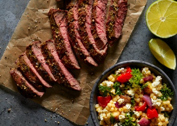 Brio Sliced Skirt Steak With Vegetable Cous Cous