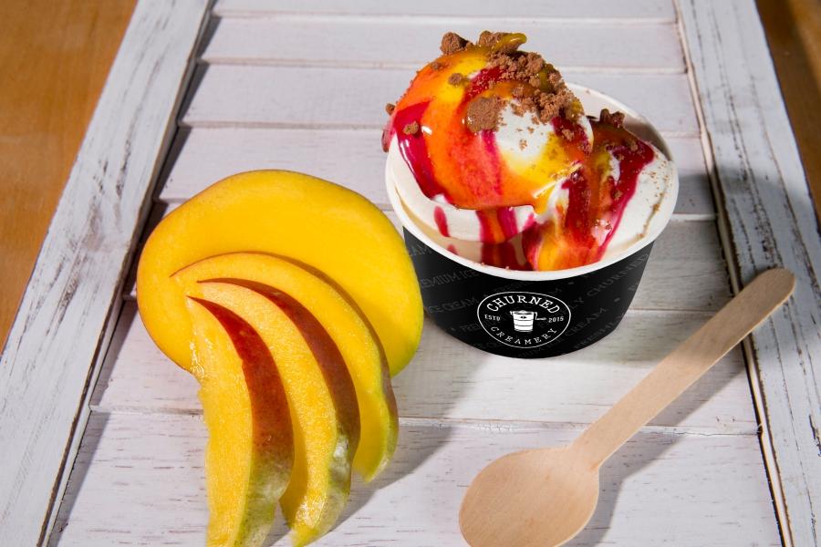 Churned Creamery Mango Ice Cream