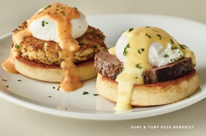 Fleming's Father's Day Brunch Surf & Turf Eggs Benedict