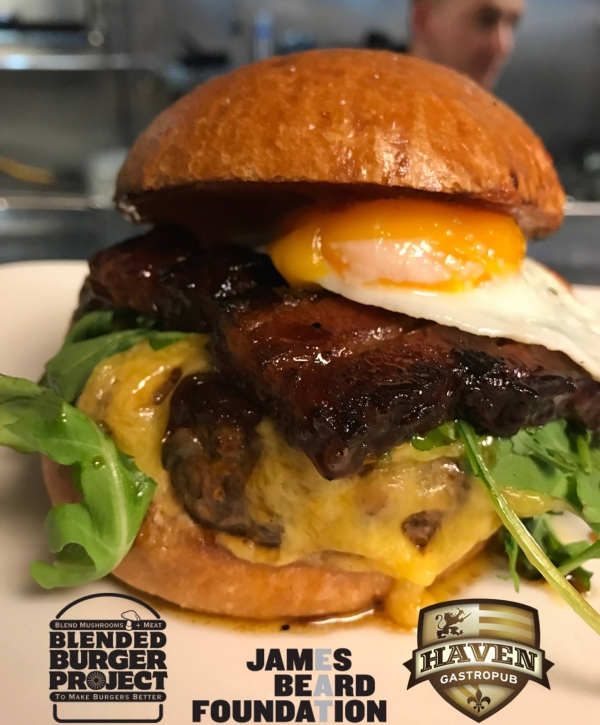 Haven Gastropub Blended Burger Project