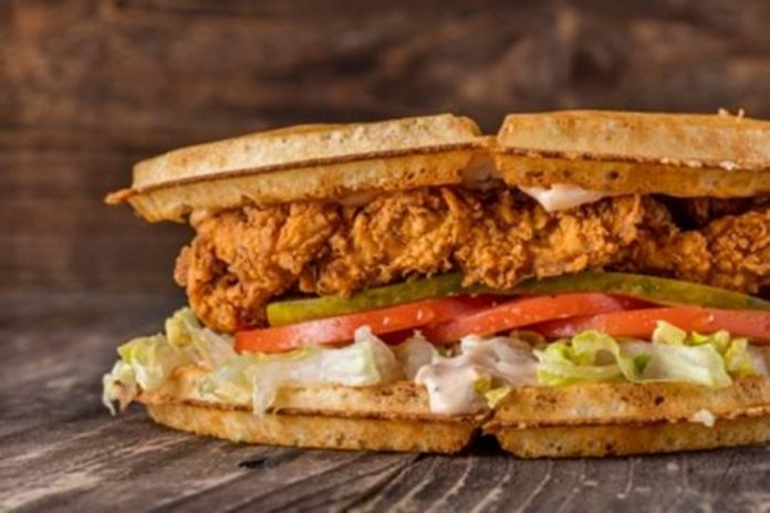 Bruxie Fried Chicken And Waffle Sandwich