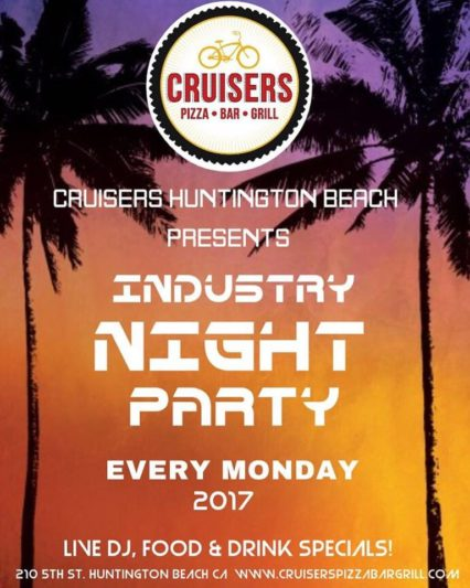 Industry Night @ Cruisers Pizza Bar Grill - Huntington Beach | Huntington Beach | California | United States