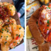 Slapfish lobster roll and Bracken's Kitchen shrimp