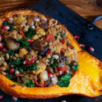 Farro Chestnut Stuffed Winter Squash