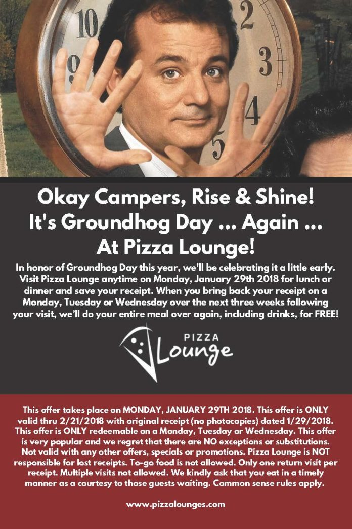 Pizza Lounge Groundhog Day