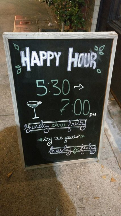 Crossings Happy Hour Sign