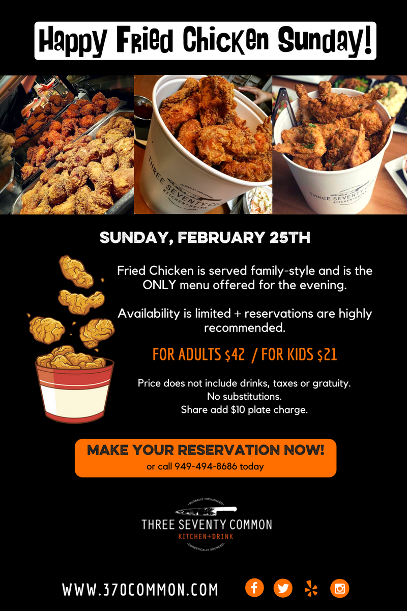 Happy Fried Chicken Sunday Great Taste Events