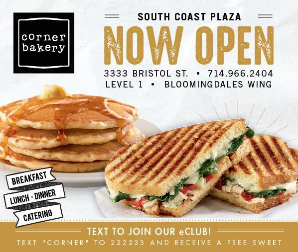Corner Bakery Now Open
