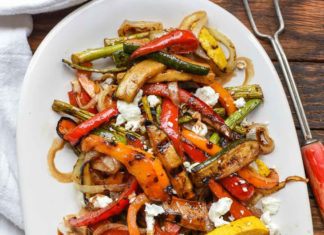 Grilled Veggies With Feta
