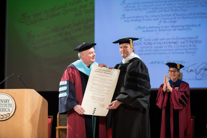 Charlie Palmer Honorary Doctorate