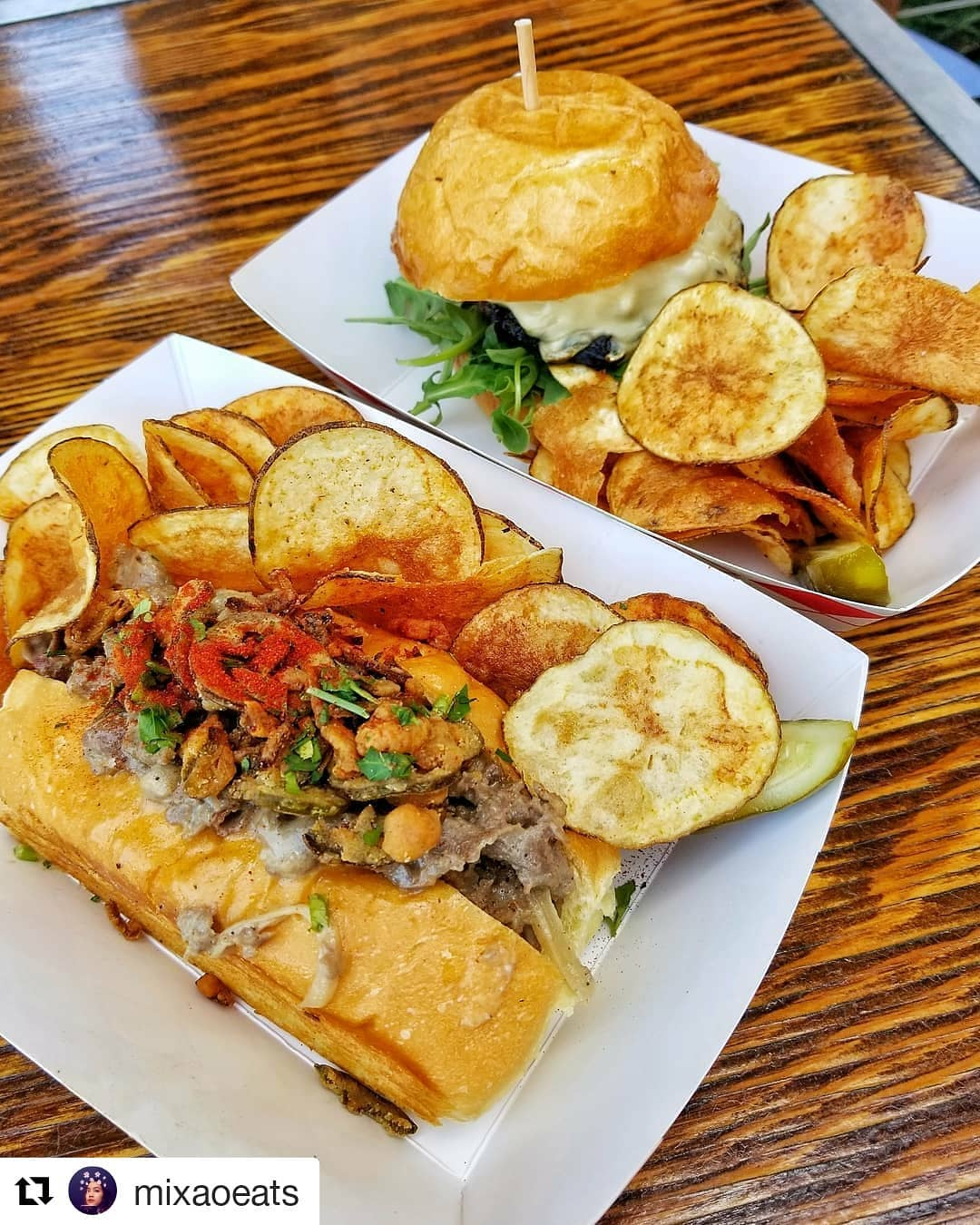 Tackle Box Cheesesteak And Korean BBQ Burger