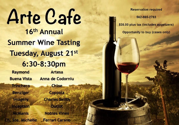 Arte Cafe 16th Wine Tasting