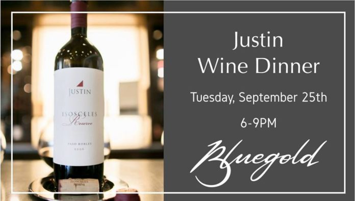 Bluegold Justin Wine Dinner