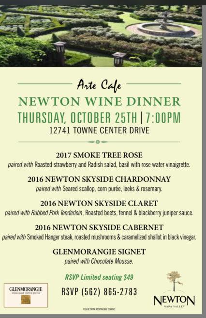 Newton Wine Dinner @ Arte Cafe - Cerritos | Cerritos | California | United States