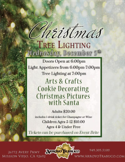 Christmas Tree Lighting & Activities @ Arroyo Trabuco Golf Course - Mission Viejo | Mission Viejo | California | United States