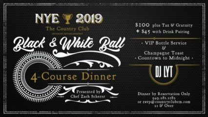 NYE 2019 Black & White Ball @ Country Club (The) - Costa Mesa | Costa Mesa | California | United States