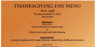 Arte Cafe Thanksgiving