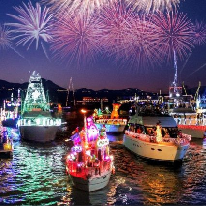 110th Annual Newport Beach Christmas Boat Parade @ Waterline at Balboa Bay Resort - Newport Beach