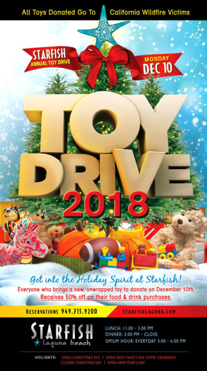 Toy Drive 2018 @ Starfish - Laguna Beach