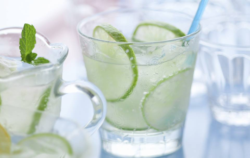 Ouzo And Feta Cucumber Cocktail