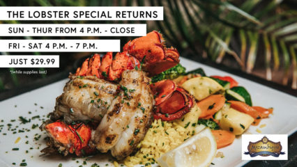 Lobster Special Returns @ Mozambique - Laguna Beach | Laguna Beach | California | United States