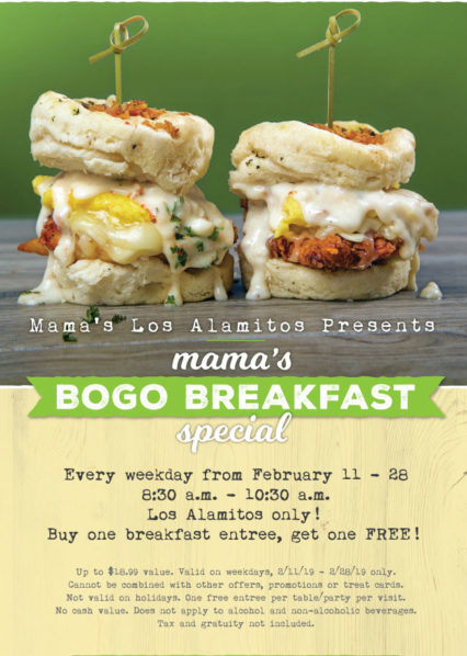 Bogo Breakfast Special @ Mama's on 39 - Los Alamitos | Los Alamitos | California | United States