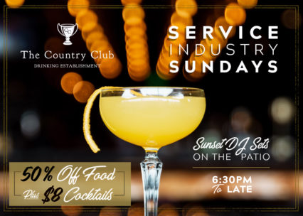 Service Industry Sunday's @ Country Club (The) - Costa Mesa | Costa Mesa | California | United States