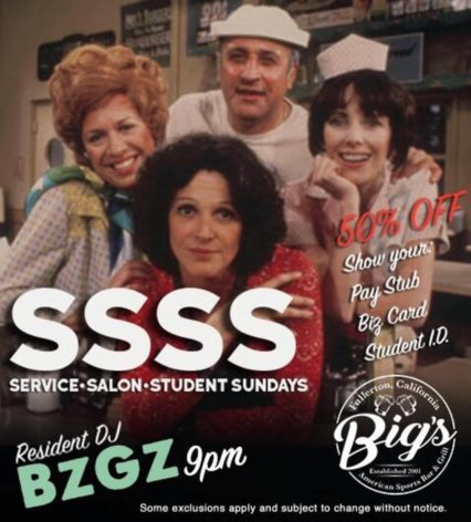Service-Salon-Students Sunday @ Big's Grill - Fullerton | Fullerton | California | United States
