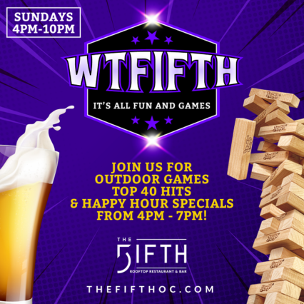Sunday Funday Games and Happy Hour Specials @ Fifth (The) - Anaheim