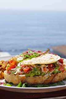 The Rooftop Lounge Lobster Avocado Toast