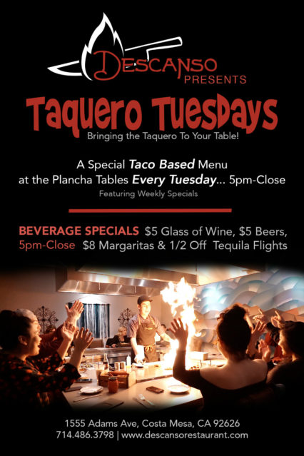 Taquero Tuesdays - Every Tuesday @ Descanso- Costa Mesa | Costa Mesa | California | United States