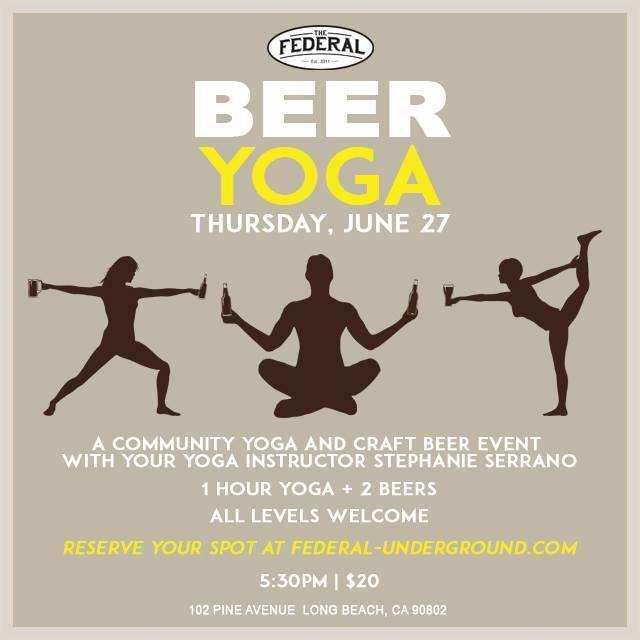 Beer Yoga The Federal