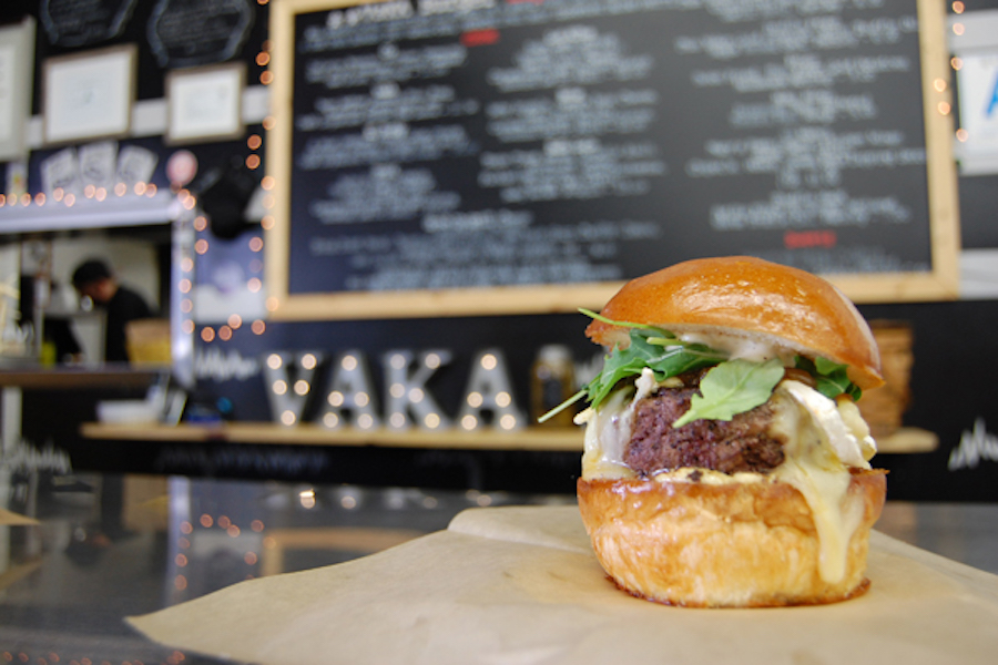 Brie Burger at Vaka Burger