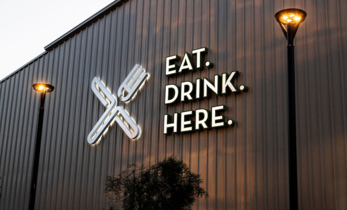 Mess Hall Eat Drink Here Sign