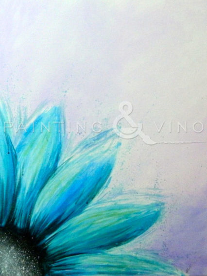 """Painting & Vino: """"Blue Sunflower"""" @ Chapter One: the modern local - Santa Ana"""