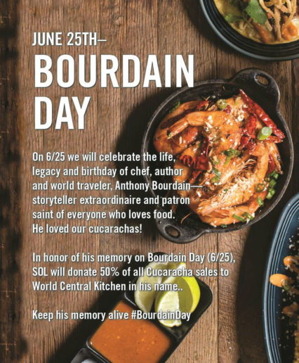 Bourdain Day @ SOL Cocina - Newport Beach