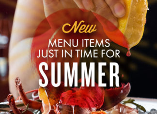Taps Fish House Summer Items