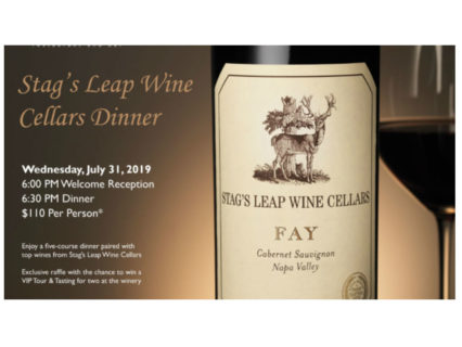 Stag's Leap Wine Cellar Dinner @ Silver Trumpet at the Wyndham Hotel - Costa Mesa