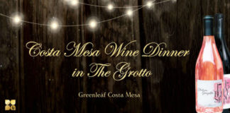 Greanleaf Costa Mesa Grotto Dinner