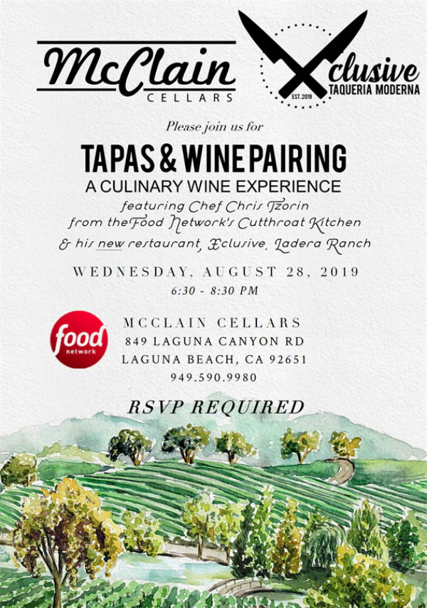 McClain Cellars Tapas And Wine Dinner