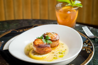Sir Winston Seared Diver Scallops & Clementine Cocktail