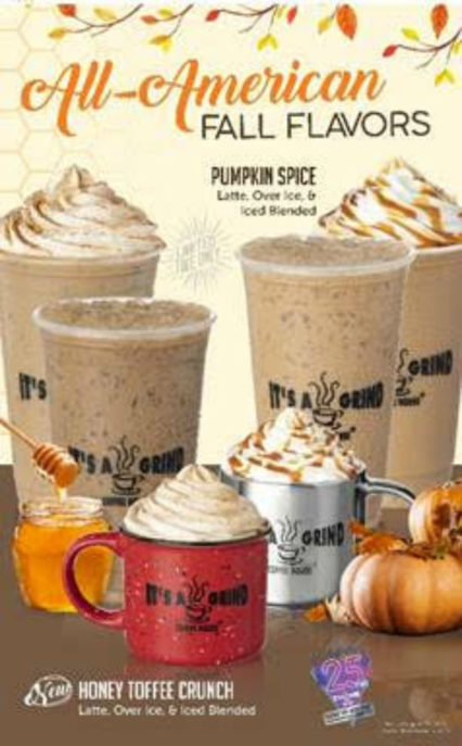 Fall Favorite Coffees are Back @ It's A Grind - Long Beach | Long Beach | California | United States
