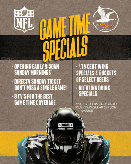 Game Time Specials @ Wild Goose Tavern - Costa Mesa