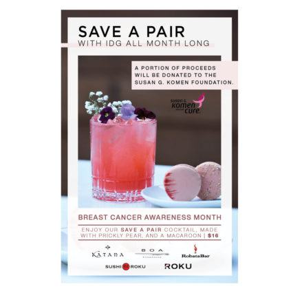 Save A Pair During Breast Cancer Awareness Month! @ BOA Steakhouse - Sunset
